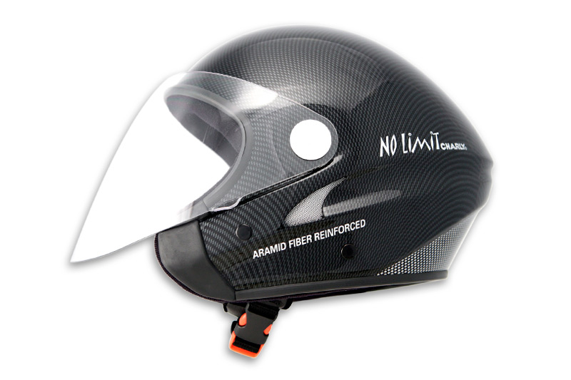 HHe32J No Limit Jet carbon look with clear visor